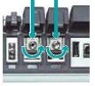 交換可能コネクタアダプタを取り外し、フェルール部端面、側面を清掃